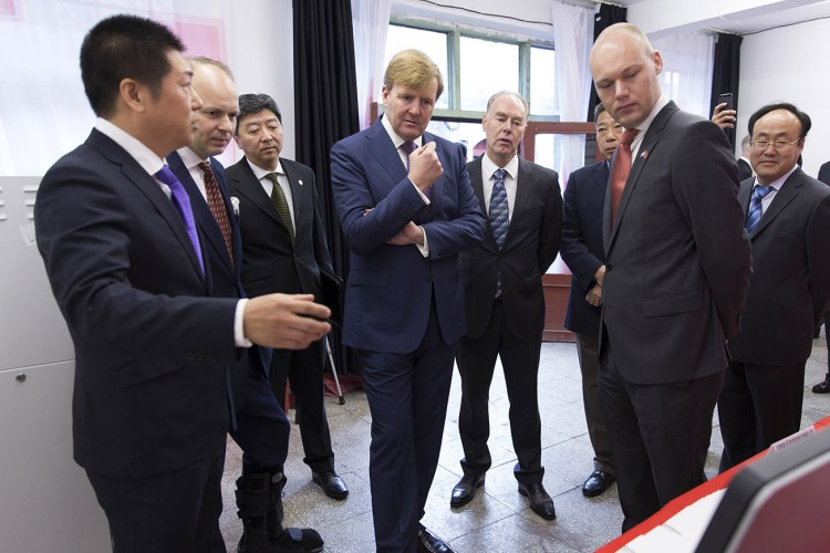 His Majesty King Willem-Alexander of the Netherlands attendance at Eurosider technology demonstration — 荷兰国王威廉·亚历山参观我公司氮气技术演示
